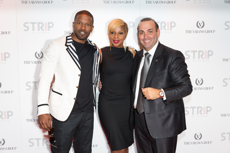 Jamie Foxx and Mary J. Blige in Boston For STRIP by Strega Opening